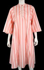 THIERRY COLSON Peach & White Striped Cotton A-Line Tunic Dress S