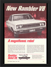 "1967 RAMBLER REBEL V8 AMC AD A3 FRAMED PHOTOGRAPHIC PRINT 15.7""x11.8"""