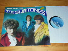 The subtones-boys want fun/Germany-LP 1986 Mint -