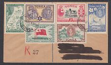Tonga Sc 94-99 Registered FDC. 1951 Treaty of Friendship complete, VF