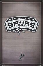 SAN ANTONIO SPURS ~ CORNERS LOGO ~ 22x34 POSTER ~ NBA Basketball ~ NEW/ROLLED!