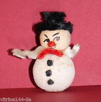alter Christbaumschmuck Weihnachtsschmuck gepresste Watte Chenille 1950er Jahre