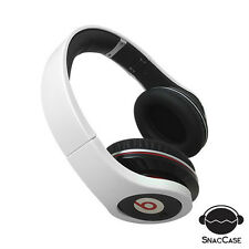 SNAC CASE WHITE CUSTOM HARD COVER CASE FOR Beats By Dr. Dre Studio Headphones
