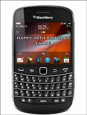 A4 BLACKBERRY PHONE EDIBLE ICING BIRTHDAY CAKE TOPPER