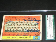 1961 TIGERS BUNNING, MOSSI, FOX, KLINE +(5) TEAM SIGNED AUTOGRAPHED CARD JSA SGC