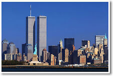 World Trade Center - Twin Towers & Statue of Liberty NYC - NEW POSTER