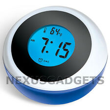 Desk Clock Alarm Time Temperature Voice Talking Back Light Backlight -PACK OF 24