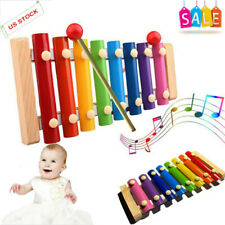 Baby Kid Musical Toys Xylophone Wisdom Development Wooden Instrument Lovely US