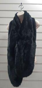 Beautiful Faux Fur Stole /scarf In black long BNIP beautiful long wrap