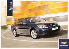 Prospekt / Brochure Chevrolet Epica 10/2006