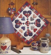 "Four Corners ""Country At Heart"" Quilt Patterns Wall Hanging 20""x20"" Doll Quilt"