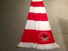 ARSENAL F C  EMBROIDERED POPPY SCARF. LEST WE FORGET.LTD EDITION.FREE POST