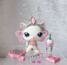 Littlest Pet Shop LPS  Lot of 8 Fairy Custom Outfit Accessories Wings Starbucks