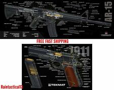 1911 & AR 15 Tek Mat 3D COLOR Cutaway Combo Set Gun Cleaning Bench Mats