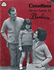 Knitting | Crocheting Patterns For Whole Family - Even A Hockey Set  Vintage MCM