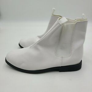 Funtasma Womens White Costume Boots Trooper 12 White Patent Leather Halloween