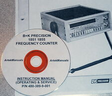 Ops +Service+ Schematics Manual for: B+K PRECISION 1851 & 1855 FREQUENCY COUNTER