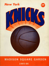 1965-66 NBA LOS ANGELES LAKERS vs. NEW YORK KNICKS GAME PROGRAM (UNSCORED) NM