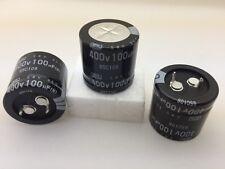 (5 pcs) ESMH401VSN101MQ25S - UCC, 100uF 400v 85c, Snap-In Capacitor