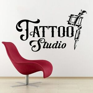 Tattoo Studio Wall Decal Living Room Fashion Style Home Decoration Cool Beauty