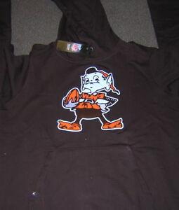 Cleveland Browns Brownie Elf Retro Brown Antiqua Hoodie Large