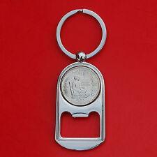 US 2003 Alabama State Quarter BU Unc Coin Key Chain Ring Bottle Opener NEW
