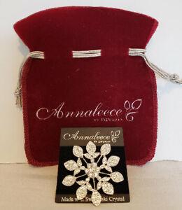 "Brooch, Annaleece ""Reminiscence"" w/Swarovski Crystals"