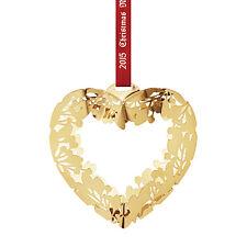 NEW IN BOX! Georg Jensen 2015 Ornament - Gold Heart - DENMARK Mobile -GREAT DEAL