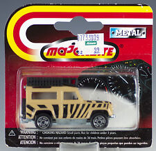 Majorette Die Cast #266 Land Rover Tan and Black Striped MOC