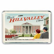 BACK TO THE FUTURE - WELCOME TO HILL VALLEY JUMBO FRIDGE /LOCKER MAGNET