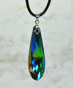 Stunning Rainbow Austrian Crystal Drop Pendant or Choker Necklace Ladies Gift