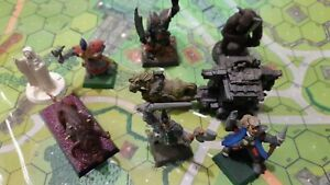 RPG miniatures, mix scatter monsters and dwarf cart