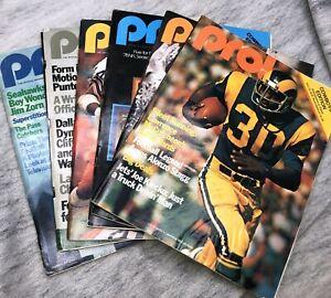 Lot 6 1978 Pro NFL GameDay Programs Magazine Cowboys Edition
