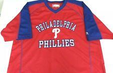 MLB General Merchandise Philadelphia Phillies Men's Red Baseball Jersey Size XL