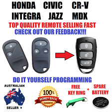 HONDA CIVIC CRV CR-V INTEGRA JAZZ MDX REMOTE KEYLESS ENTRY FOB COMPLETE NEW
