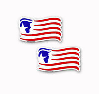 "Trump American Flag Republican Stickers Decals 2 Pack  6"" wide"