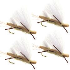 Chubby Chernobyl Ant Tan Foam Body Trout Fly Fishing Flies 4 Flies Hook #10