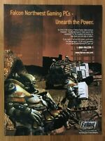 Fallout Tactics PC 2000 Vintage Poster Ad Art Print Promo PS4 Xbox Official Rare