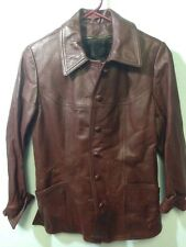 Removable Fur Lining Leather Jacket Brown Wine berry Wineberry 8 New England USA