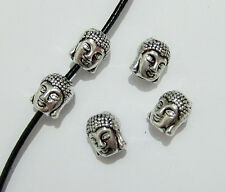 5pz perline spacer separatori  Buddha 3D 10x8,5mm colore tibetano bijoux
