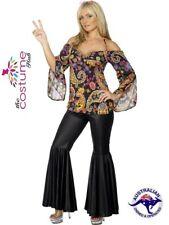 Size 12 - PLUS Size 26 70s Hippy Trouser Suit Costume 60s Retro Fancy Hippie