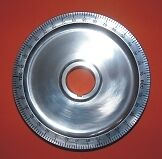 Polished alloy crank shaft pulley vw beetle, vw camper