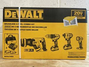 DEWALT 20V MAX Brushless Cordless 4-Tool Combo Kit DCK476D2 NEW