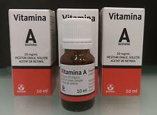 Vitamina A retinolo 10ml vitamina anti rughe anti acne anti età 3 CONFEZIONI