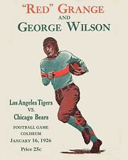 1926 Game Program Grange (Bears) vs George Wilson (LA Tigers), 8x10 Color Photo
