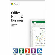 Microsoft Office Home and Business 2019 Windows or Mac 1 License Pc Card
