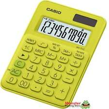 AUSSIE SELER CASIO DESK CALCULATOR 8 DIGIT MS-7UC-YG YELLOW COLOUR SOLAR+BATTERY