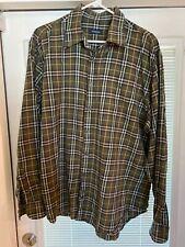 Authentic Burberry Men's Nova Check Classic Button Shirt • Size 5 XL