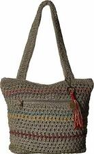 The Sak Amberly Crochet Tote Purse Knitted Terra Striped #108256