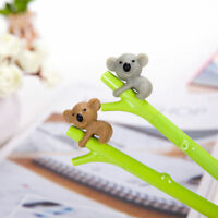 2Pcs Cute Cartoon Koala Ball Point Pen Ballpoint Stationery School Pens Gifts